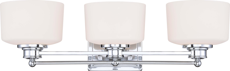 Nuvo 60 4583 soho 3 light vanity fixture with satin white nuvo soho 3 light vanity fixture with satin white glass 60 4583 aloadofball Choice Image