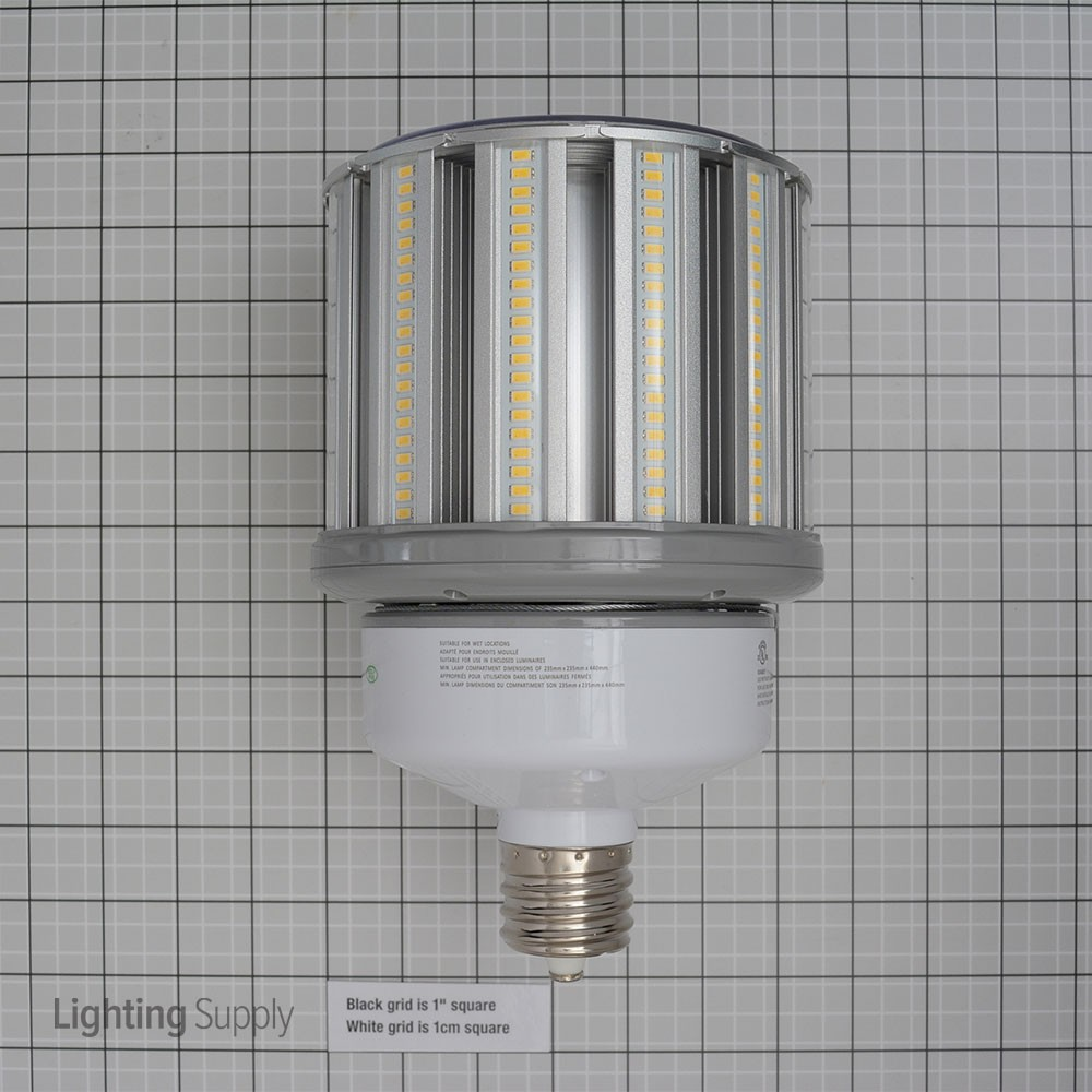 Led Light Enclosed Fixture: Satco 100W/LED/HID/5000KEX39/100-277 100 Watt Corn Cob LED 5