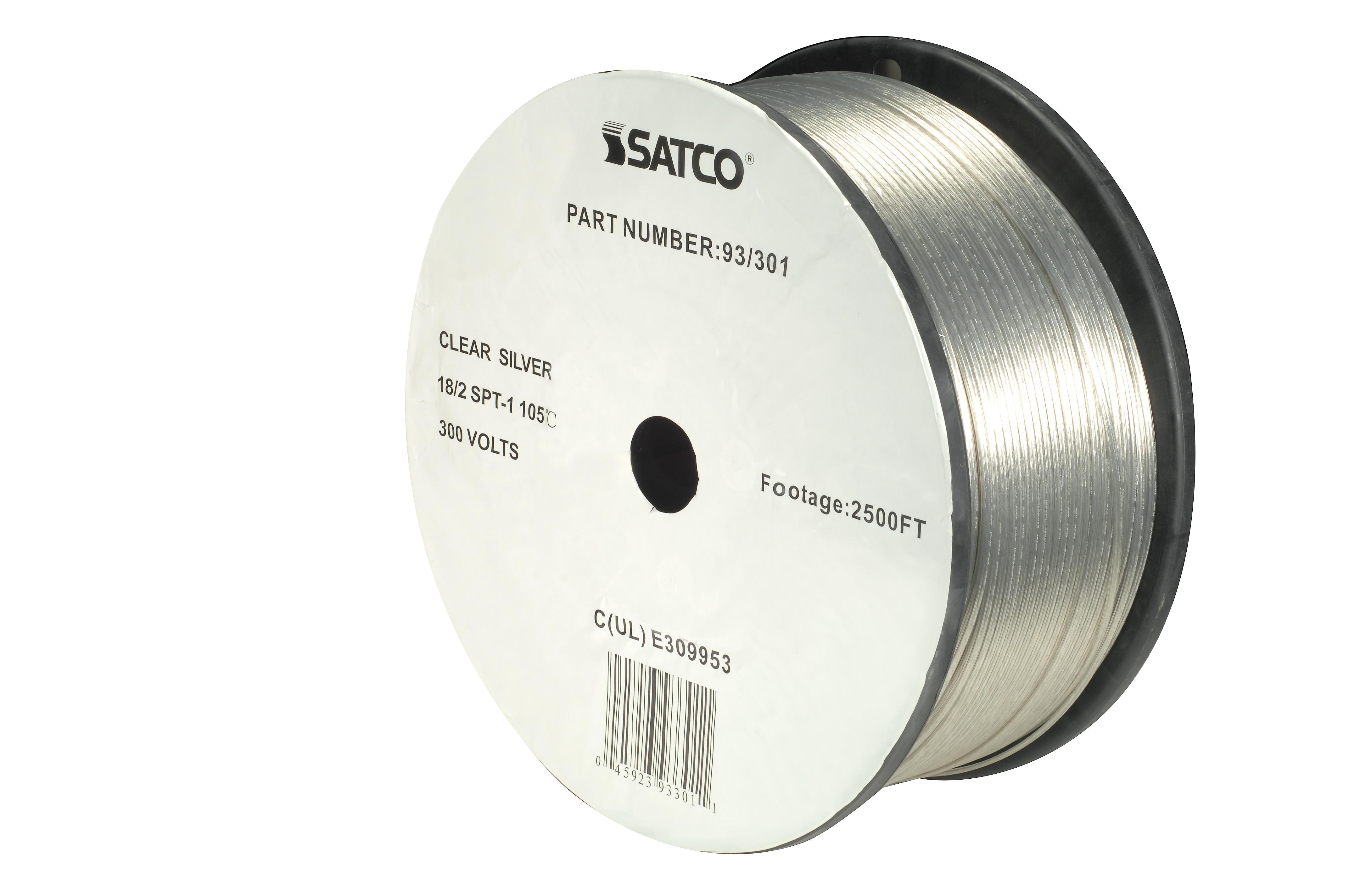 Satco 93-301 18/2 Spt-1 105 Deg. C Wire 2500 Ft./Reel (93-30