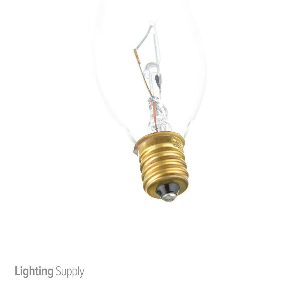 satco a3662 60 watt ca10 incandescent  clear  2500 average r