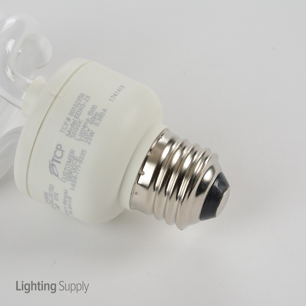 Tcp 801023 50k 23 Watt Spiral Cfl 5000k 120v 82 Cri Medium