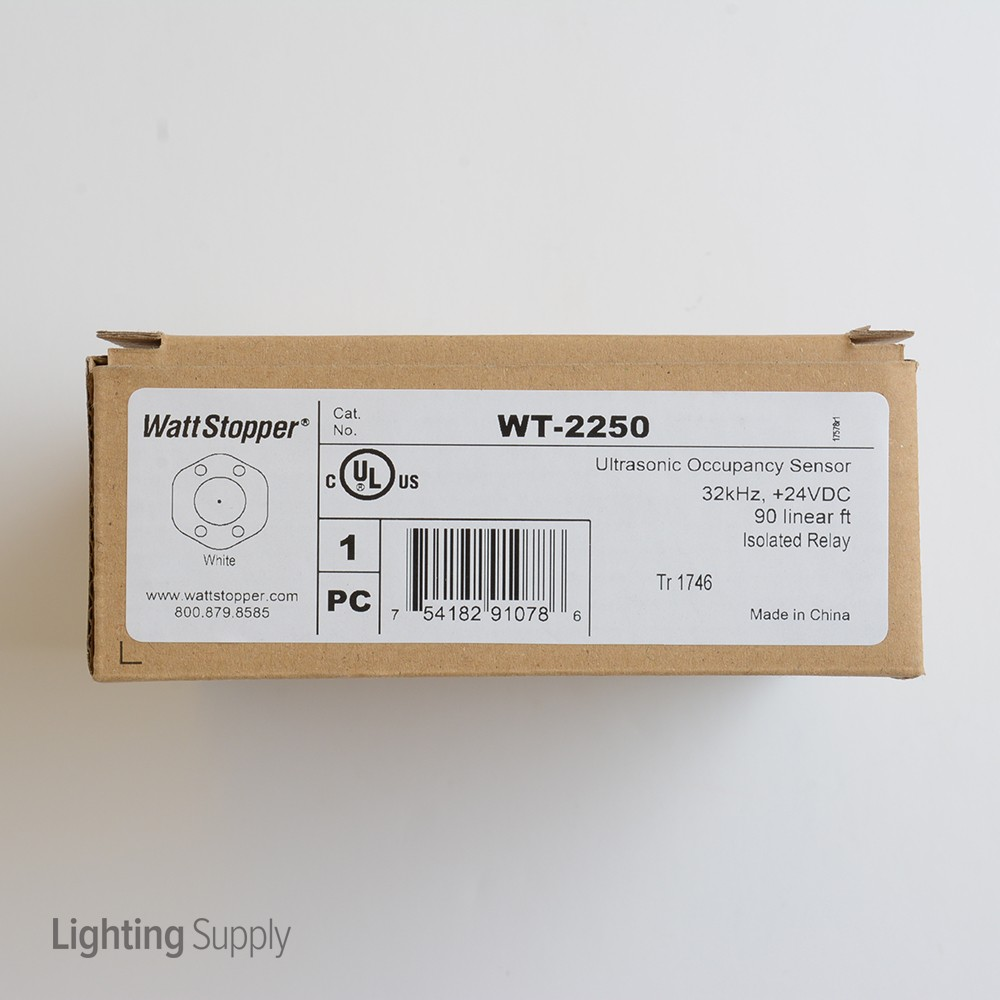 Wattstopper Occupancy Sensor Ceiling: WattStopper WT-2250 Ultrasonic Ceiling Occupancy Sensor 24 V