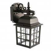 Feit Electric LED 11 Watt 2700K 450 Lumen 120V Security Outdoor Lantern Black Fixture (73897)