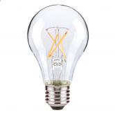 Satco 7 Watt A19 LED 2700K 120V 810 Lumen 80 CRI Medium (E26) Base Clear Dimmable Bulb (7A19/CL/LED/E26/27K ES/120V)
