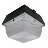 Lumecon 24 Watt LED Dark Bronze Small Canopy Fixture with Photocell - 4700K 120V-277V 73 CRI 2203 Lumens (LC-SM-DB-1-NW-X-X-PC-X-X-X-X)