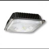 Cree 44 Watt LED Dark Bronze Square Canopy Light Fixture - 4000K 120V-277V 70 CRI 4900 Lumen - DLC Standard(C-CP-A-SQ-49L-40K-DB)