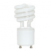 Satco 13 Watt Mini Spiral T2 CFL 3500K 120V 82 CRI GU24 Base Bulb (13T2GU24/35)