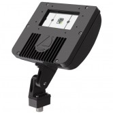 Lithonia 21 Watt LED Wide Flood Floodlight - 5000K 120V-277V 70 CRI 3058 Lumen Wide Flood Dark Bronze Fixture - Knuckle Mounting - DLC Premium (DSXF1 LED P1 50K)