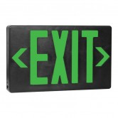 Best Lighting Products LED Double Faced Black Exit Sign with Green Letters - Battery Backup (EZXTEU2GB-EM)