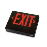 Best Lighting Products LED Double Faced Black Exit Sign with Red Letters - Remote Head Capable and Battery Backup (EZXTEU2RBEM-RC)