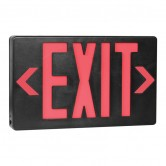 Best Lighting Products LED Double Faced Black Exit Sign with Red Letters - Battery Backup (EZXTEU2RB-EM)