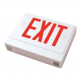 Best Lighting Products LED Double Faced White Exit Sign with Red Letters - Remote Head Capable and Battery Backup (EZXTEU2RWEM-RC)