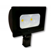 "Cree 118 Watt LED Narrow Floodlight - 5000K 120V-277V 70 CRI 12,500 Lumen Dark Bronze Fixture - Includes 2"" Adjustable Filter (C-FL-A-RTS2-14L-50K-DB)"