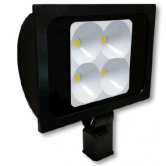 "Cree 234 Watt LED Narrow Floodlight - 5000K 120V-277V 70 CRI 22,800 Lumen Dark Bronze Fixture - Includes 2"" Adjustable Fitter (C-FL-A-RTS4-23L-50K-DB)"