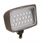 Hubbell 52 Watt LED 0-10V Dimmable Floodlight - 5000K 120-277V 80 CRI 4957 Lumen Bronze Fixture (FML-52)