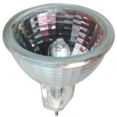 GE 50 Watt MR16 Halogen 3050K 12V Bipin (GU5.3) Base Clear Coated Covered Glass Flood Bulb (Q50MR16/C/CG40FL12)