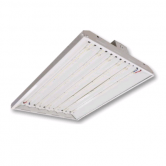 "Cree 160 Watt 24"" LED 0-10V Dimmable White Linear High Bay Fixture with Clear Acrylic Lens - 4000K 120V-277V 80 CRI 20,000 Lumen - Includes V-hook and 36"" Chain - DLC Standard (C-PHB-A-L2F-20L-40K-WH)"