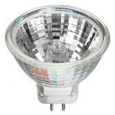Hikari 5 Watt MR11 Halogen 6V Bipin (G4) Base Covered Glass Bulb (6V 5W MR11 G4 CVR 30 DEG)