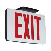 Best Lighting Products LED Double Faced Thin Die-Cast Aluminum Exit Sign with Red Letters - Battery Backup (KZXTEU2RAEM)