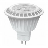 TCP 7 Watt MR16 LED 2400K 12V 450 Lumen 80 CRI Bipin (GU5.3) Base Dimmable Shatter Resistant Flood Bulb (LED712VMR16V24KFL)