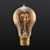 40W A19 Quad Loop Edison Bulb