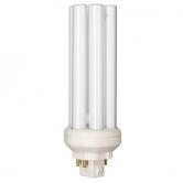 Philips 18 Watt PL Triple Tube CFL 4100K 100V 80 CRI 4 Pin (GX24q-2) Plug-In Base Bulb (PL-T18W/841/A/4P/ALTO)