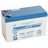 Power Sonic 12V 7.0 AH Rechargeable Sealed Lead Acid Battery (PS-1270 F1)