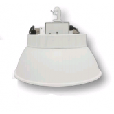 "Cree 210W 16"" LED Round White High Bay Fixture with Aluminum Reflector - 5000K 120V-277V 70 CRI 26,500 Lumen - Includes Hook and 6' Cord with Straight Blade Plug (Lens not included) (C-HB-A-RDAL-26L-50K-WH)"