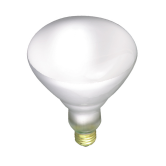 Satco 120 watt BR40 Incandescent; Frost; 5000 Average rated hours; 1150 lumens; Medium Skirted base; 130 volts (120BR40/TF)