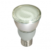 Satco 11 watt; PAR20 Compact Fluorescent; 2700K; 82 CRI; Medium base; 230 volts (11PAR20/27/230V)