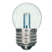 Satco 1.2 watt LED; S11; Clear; 2700K; Medium base; 120 volts (1.2W S11/CL/LED/120V/CD)
