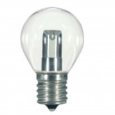 Satco 1 watt LED; S11; Clear; 2700K; Intermediate base; 120 volts (1.0W S11/CL/LED/E17/120V/CD)