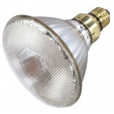 Satco  100 watt; Metal Halide HID; Medium base; PAR38; Clear; 86 CRI; 3000K  (CDM100/PAR38/FL/3000K)
