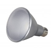 Satco  13 watt PAR30 Long Neck LED; 2700K; 40' beam spread; Medium base; 120 volts  (13PAR30/LN/LED/40/2700K/120V/D)