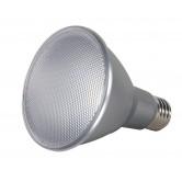 Satco  13 watt PAR30 Long Neck LED; 3500K; 25' beam spread; Medium base; 120 volts  (13PAR30/LN/LED/25/3500K/120V/D)