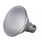 Satco  13 watt PAR30 Short Neck LED; 2700K; 25' beam spread; Medium base; 120 volts  (13PAR30/SN/LED/25/2700K/120V/D)