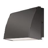RAB 57 Watt LED Cutoff Wallpack - 5000K 120V-277V 73 CRI 5422 Lumen Bronze Fixture (SLIM57N)