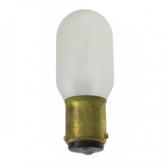 15 Watt T7 Incandescent 130V Double Contact (BA15D) Bayonet Clear Shatter Resistant Coated Bulb (15T7-130V-DC TUFF COATED)