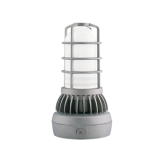 RAB 13 Watt LED Gray Vaporproof Uplight Jelly Jar Fixture - 4000K 120V-277V 88 CRI 595 Lumen (VXLED13NDG-UP)