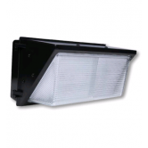 Cree 96 Watt LED Traditional Wallpack with Prismatic Glass Lens - 4000K 120V-277C 70 CRI 8600 Lumen Dark Bronze Fixture (C-WP-A-TRAD-8L-40K-DB)