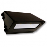 Cree 66 Watt LED Traditional Full Cutoff Wallpack with Tempered Glass Lens and White Polycarbonate Reflector - 4000K 120V-277V 70 CRI 6400 Lumen Dark Bronze Fixture (C-WP-A-TRFC-6L-40K-DB)