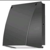 RAB 27 Watt LED Cutoff Wallpack - 5000K 120V 73 CRI 3905 Lumen Bronze Fixture - Includes Photocell (SLIM37/PC)