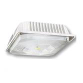 Cree 44 Watt LED White Square Canopy Light Fixture - 4000K 120V-277V 70 CRI 4900 Lumen - DLC Standard (C-CP-A-SQ-49L-40K-DB)