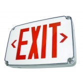Best Lighting Products LED Single Faced White Exit Sign with Red Letters - Wet Location Rated and Battery Backup (WLEZXTEU1RWEM)