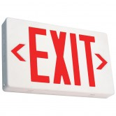 Best Lighting Products LED Double Faced White Exit Sign with Red Letters - Battery Backup (EZXTEU2RW-EM)