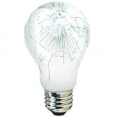 Athalon 60 Watt A19 Incandescent 130V Medium (E26) Base Shatter Resistant Coated Rough Service Bulb (60A19/RS/SRC/ATH)