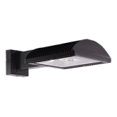 RAB 125 Watt LED Type IV Distribution Wallpack - 4000K 120V 72 CRI 14,373 Lumen Bronze Fixture - DLC Standard (WPLED3T125N/PC)